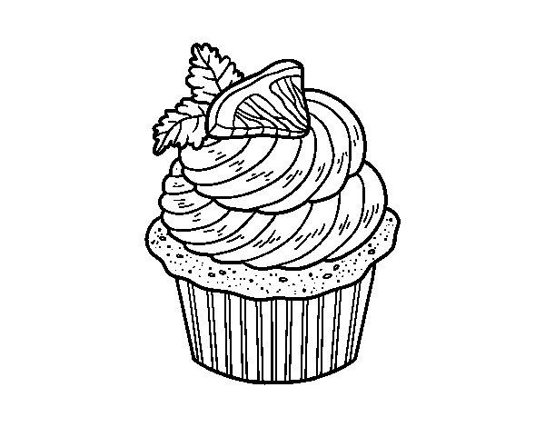 Desenho de Cupcake de limão para Colorir