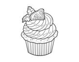 Desenho de Cupcake de limão para colorear