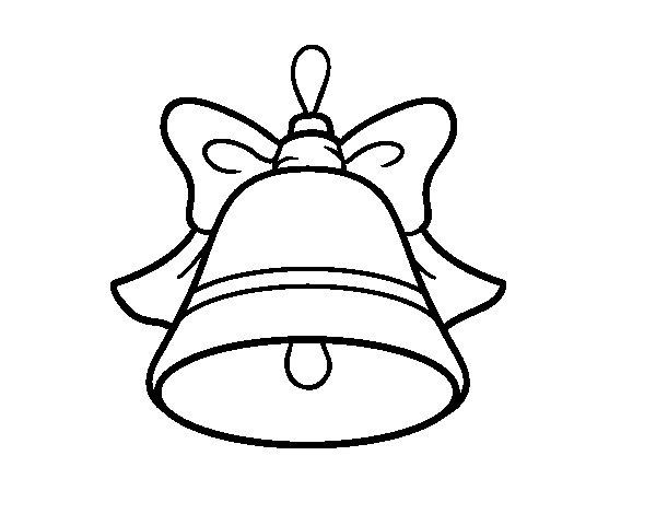 Desenho de Decoração de Natal sino para Colorir