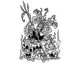 Desenho de Diabo chato para colorear