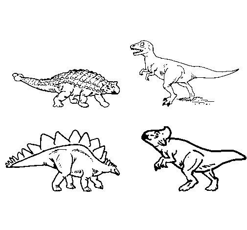 Desenho de Dinossauros de terra para Colorir - Colorir.com