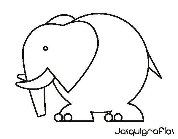 Desenho de Elefante grande para Colorir