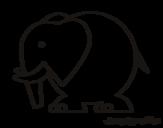 Desenho de Elefante grande para colorear