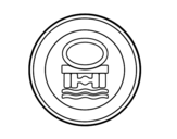 Desenho de Entrada proibida para veículos que transportam poluentes da água para colorear