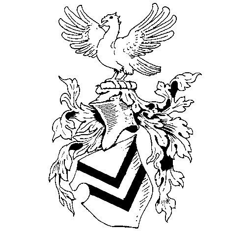 Desenho de Escudo de armas e águia para Colorir