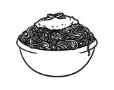 Desenho de Espaguete para colorear