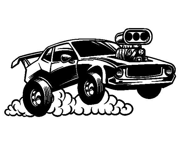 Desenho de Esportes muscle car para Colorir