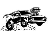 Desenho de Esportes muscle car para colorear
