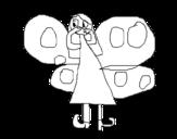 Desenho de Fada Borboleta para colorear