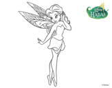 Desenho de Fadas Disney - Rosetta coqueta para colorear
