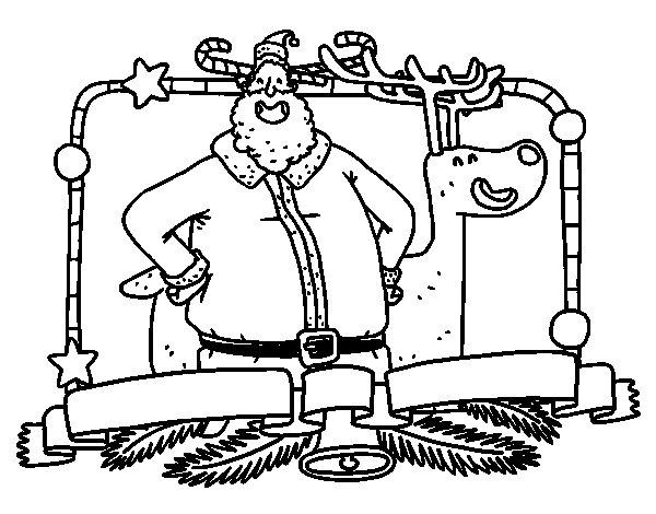 Desenho de Feliz Natal para todos para Colorir