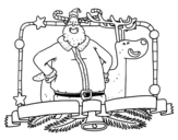 Desenho de Feliz Natal para todos para colorear