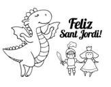 Dibujo de Feliz São Jorge