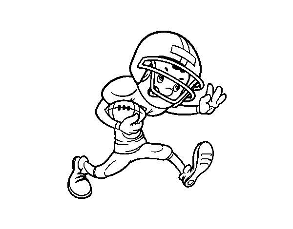 Desenho de Frente da râguebi para Colorir