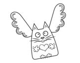 Desenho de Gato Cupido para colorear