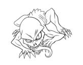 Desenho de Ghoul para colorear