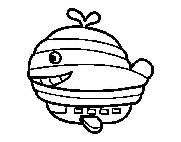 Desenho de Globo-baleia para Colorir