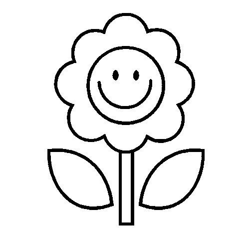 Desenho de Happy Flower para Colorir