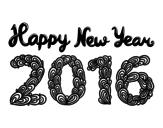 Desenho de Happy New Year 2016 para colorear