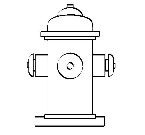 Desenho de Hidrante para Colorir