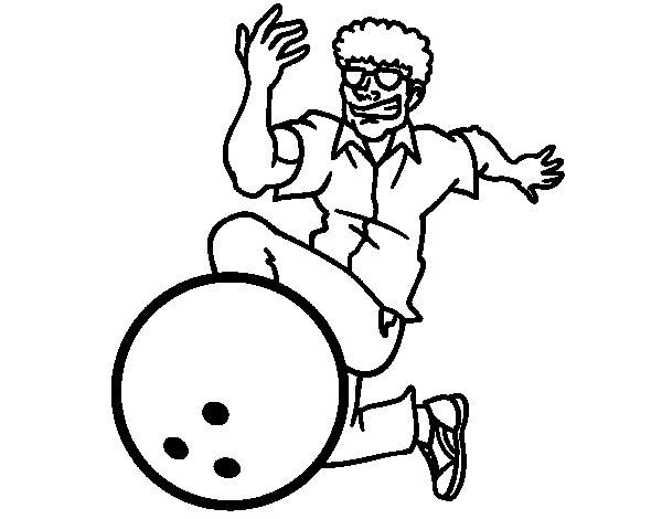Desenho de Homem de boliche para Colorir