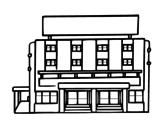 Desenho de Hotel para colorear