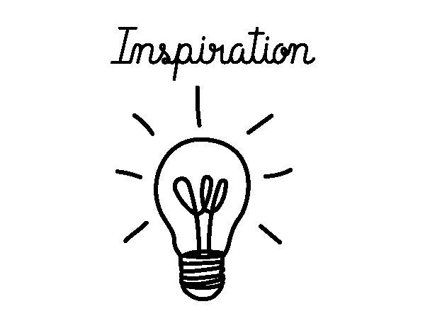 Desenho de Inspiração para Colorir