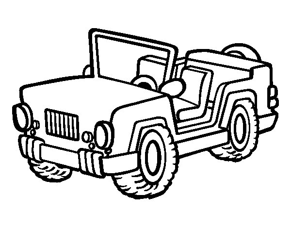 Desenho de Jeep para Colorir