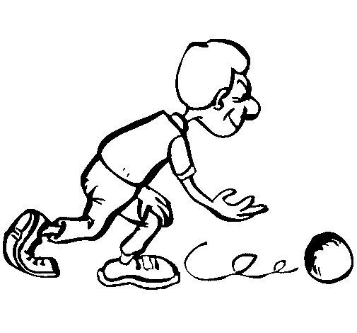 Desenho de Jogador de bowling para Colorir
