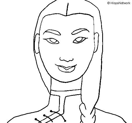 Desenho de Jovem chinês para Colorir