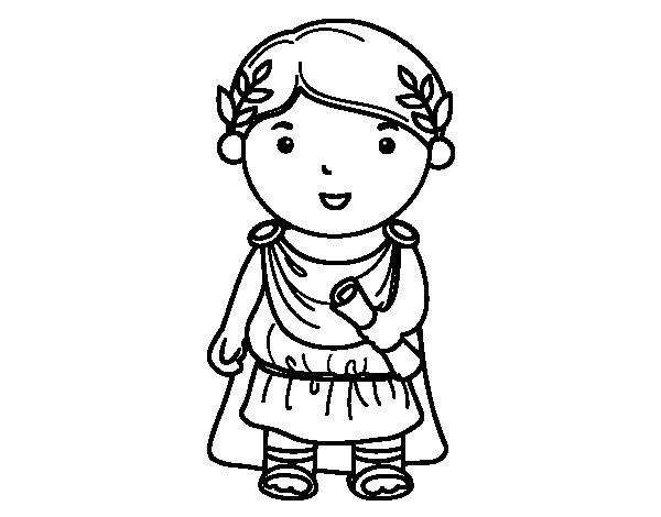 Desenho de Julio César de criança para Colorir