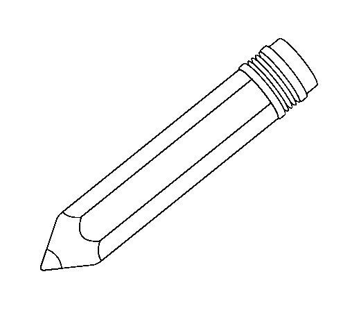 Desenho de Lápis II para Colorir