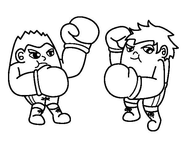 Desenho de Luta de boxe para Colorir