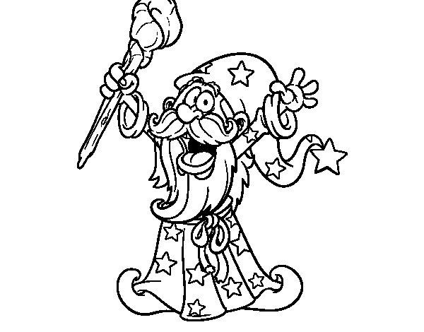Desenho de Mago poderoso para Colorir