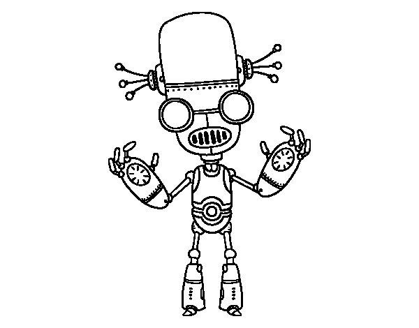 Desenho de Mal robô para Colorir