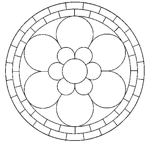 Desenho de Mandala 2 para Colorir