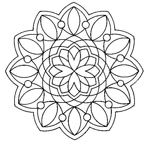 Desenho de Mandala 3 para Colorir