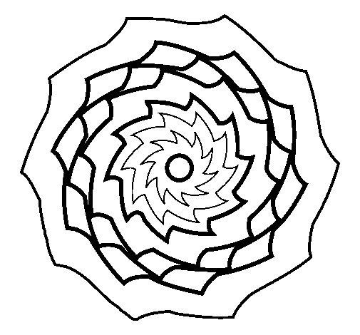 Desenho de Mandala 9 para Colorir