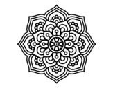 Desenho de Mandala flor de la concentração para colorear