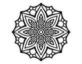 Dibujo de Mandala simetria simples