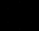 Desenho de Mandala simétrica para colorear