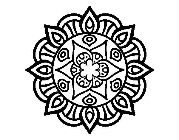 Desenho de Mandala vida vegetal para Colorir