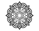 Desenho de Mandala vida vegetal para colorear