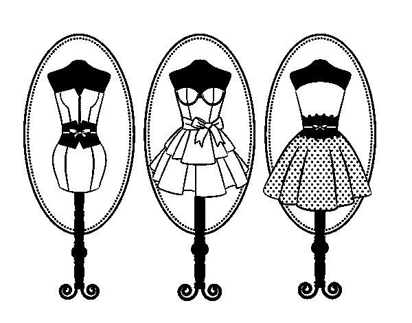 Dibujos De Ropa Para Colorear E Imprimir: Desenho De Manequins Para Colorir