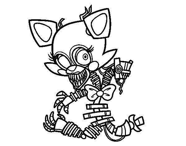 Desenho de Mangle de Five Nights at Freddy's para Colorir