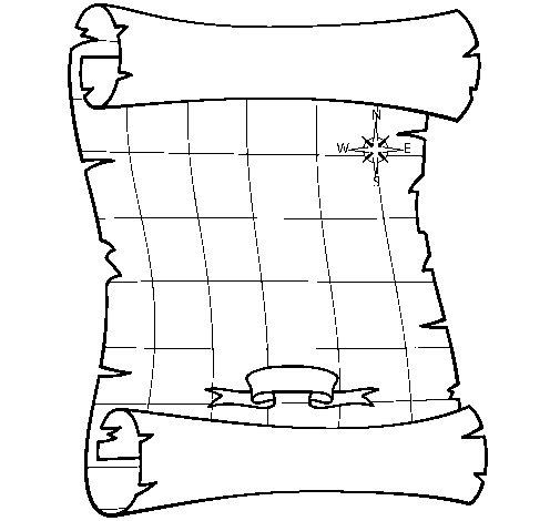 Desenho de Mapa para Colorir