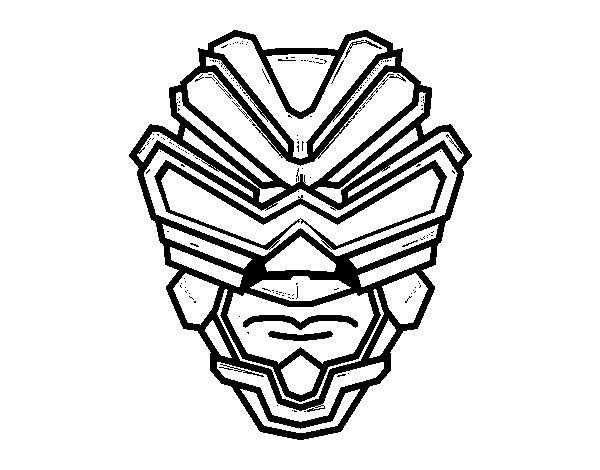 Desenho de Máscara de raio gama para Colorir