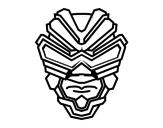 Desenho de Máscara de raio gama para colorear