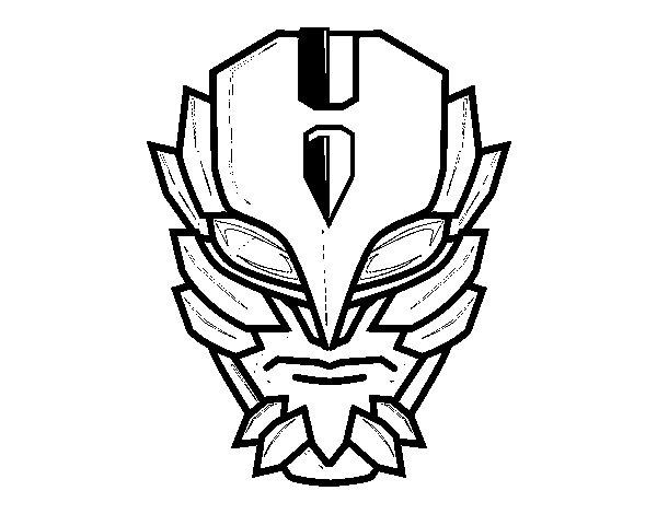 Desenho de Máscara de super vilão para Colorir