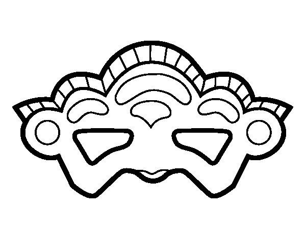 Desenho de Máscara de Veneza para Colorir